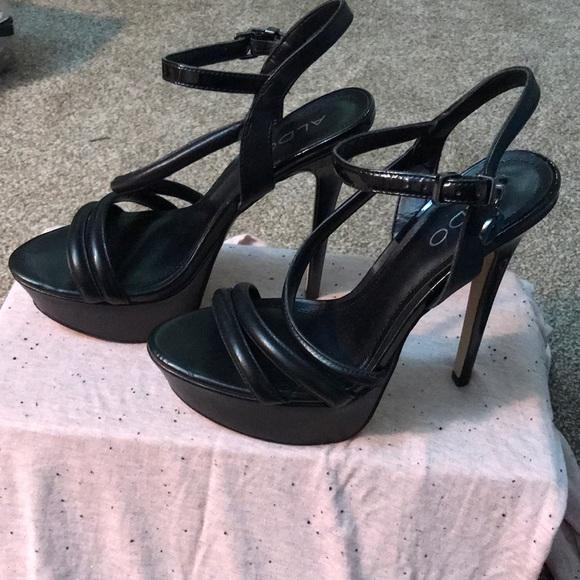 46436bd62431 57% off Aldo Shoes Black Platform Heel